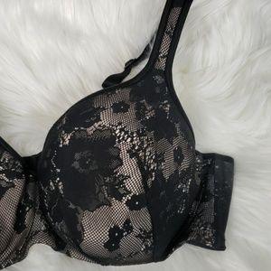 Cacique Intimates & Sleepwear - CACIQUE Plus Size Black & Nude Lace Bra